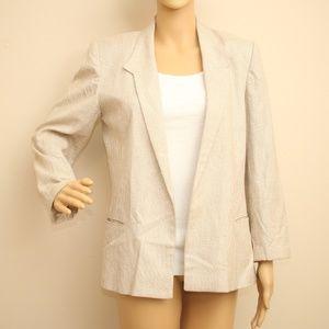 Diane Von Furstenburg 100% Silk Open Blazer